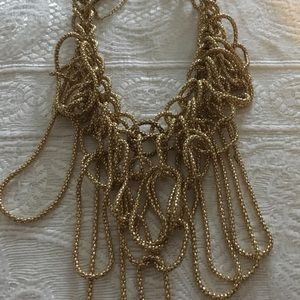 Gold color necklace